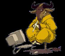 GNU en lévitation par Nevrax Design Team (source wikimedia)